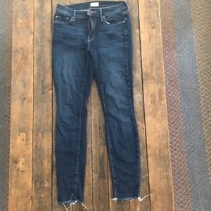 Mother Raw Edge Skinny Jeans